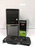 EuroCom Tower / Intel® Core™ i5-2400 (4 ядра по 3.10 - 3.40 GHz) / 12GB DDR3 / 500GB HDD + 120 GB SSD / GeForce GTX 1060 3Gb GDDR5 192-bit / БП 500W
