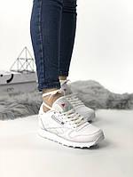 Женские кроссовки Reebok Classic (white), женские кроссовки Reebok Classic, белые рибок класик, фото 1