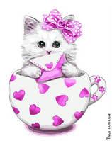 Картина по номерам Белая кошечка