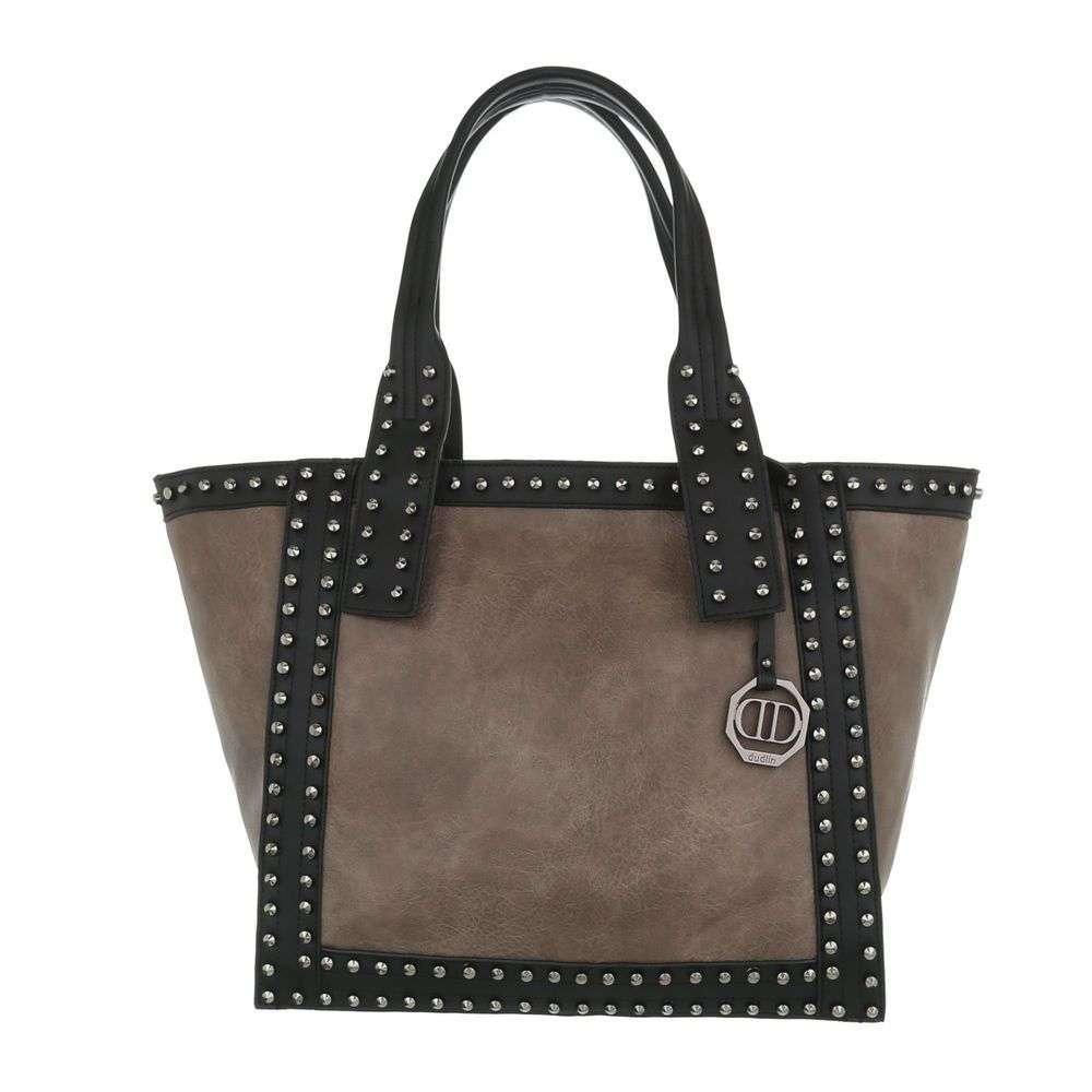 Женская сумка шоппер-хаки - ТА-5535-5-хаки