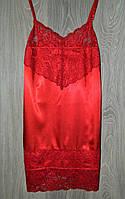 Пеньюар  с ажуром стрейч атлас S (42-44) красный (6598), фото 1