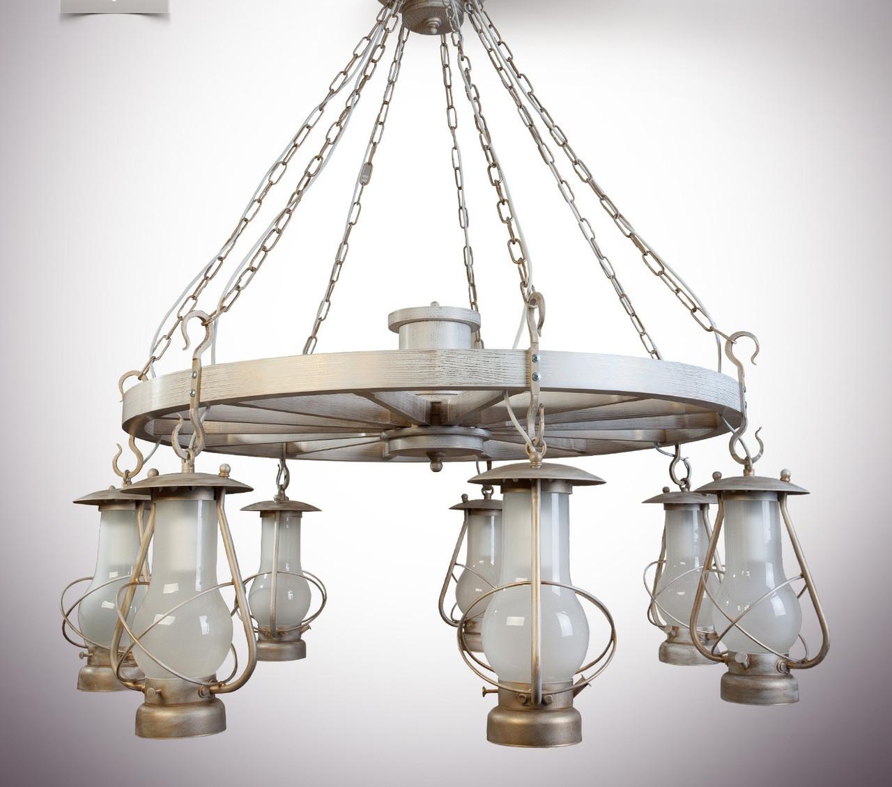 Люстра 7-ми лампова, люстра гасниця, люстра колесо 9407-1