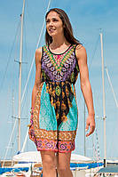 Цветное пляжное платье с поясом Iconique IC7 102 42(S) Черный Iconique IC7 102