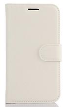 Шкіряний чохол-книжка Samsung Galaxy J1 2016 моделі j120 білий
