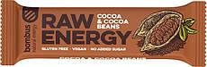 Батончик Bombus Raw Energy Какао и Какао Бобы 50 г