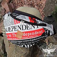 Поясная сумка с газетным принтом, фото 1