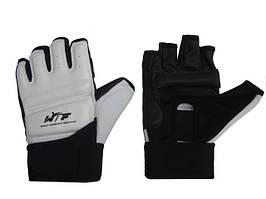Перчатки тхэквандо PU. Размер: M,L,XL.Цвет-белый