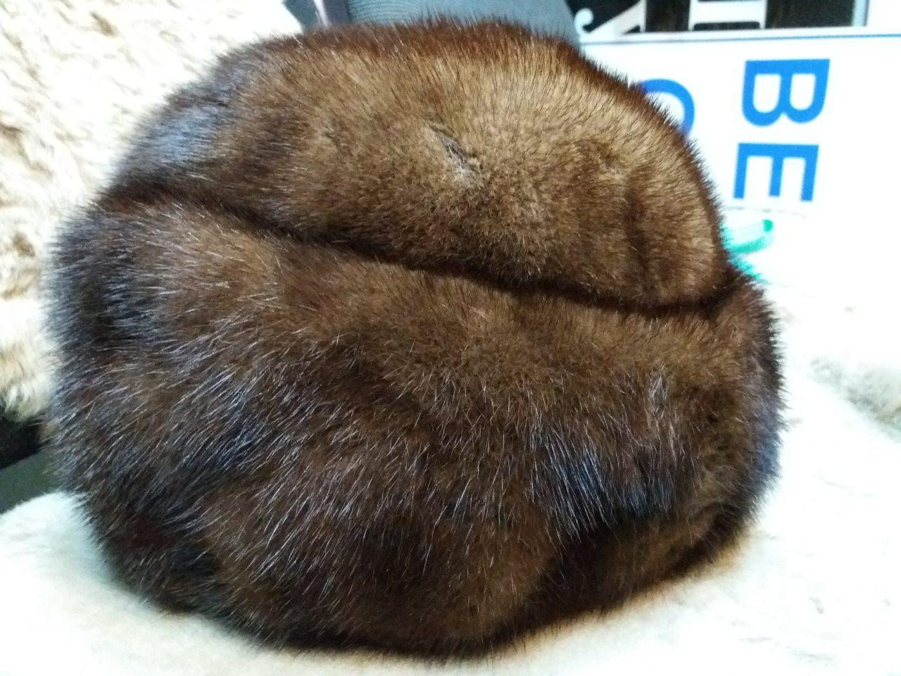 Меховая шапка норковая из натуральной норки