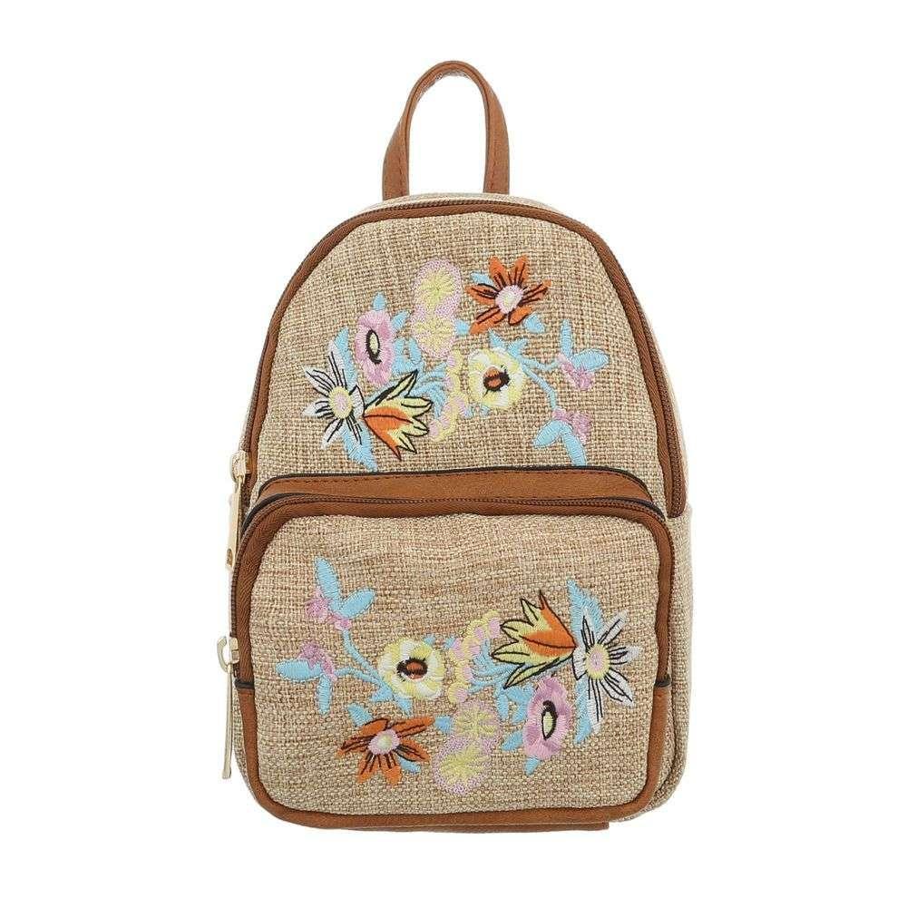 Женский рюкзак-коричневый - ТА-5160-15-Браун