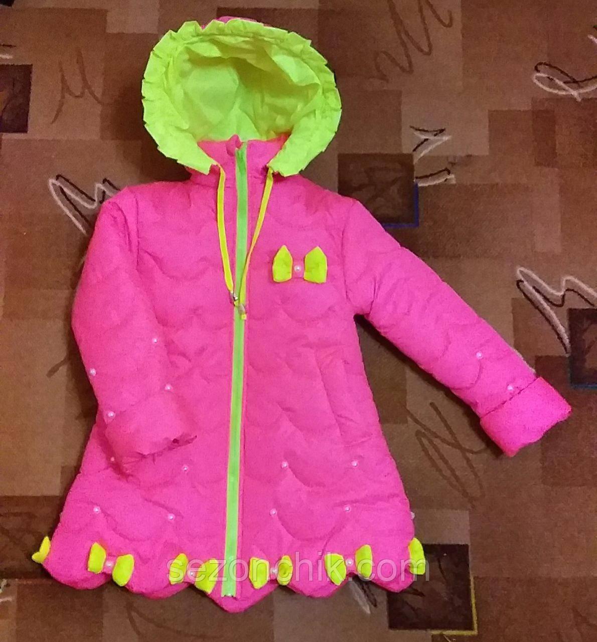 Весенние детские пальто на девочек удлинённые яркие