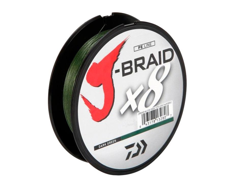 Шнур Daiwa J-Braid x8 Dark Green 150м 0.22мм