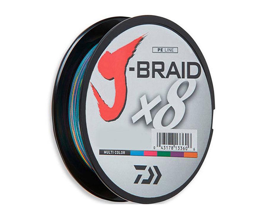 Шнур Daiwa J-Braid x8 Multicolor 150м 0.13 мм