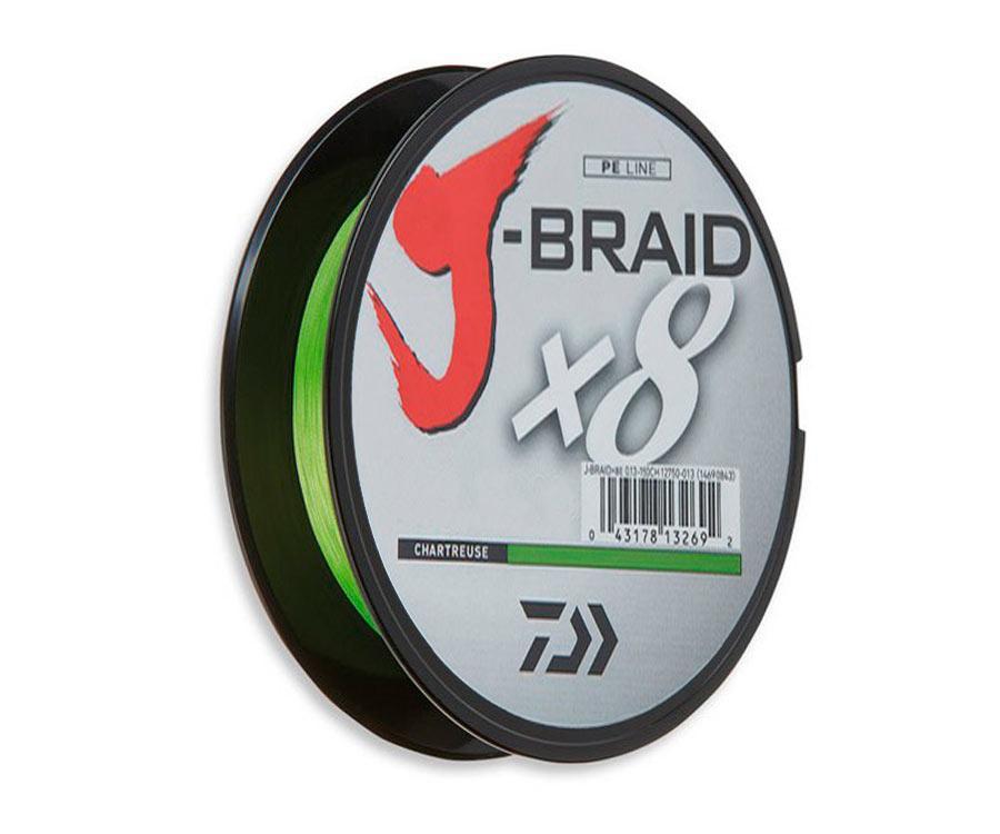 Шнур Daiwa J-Braid x8 Chartreuse 150м 0.13 мм