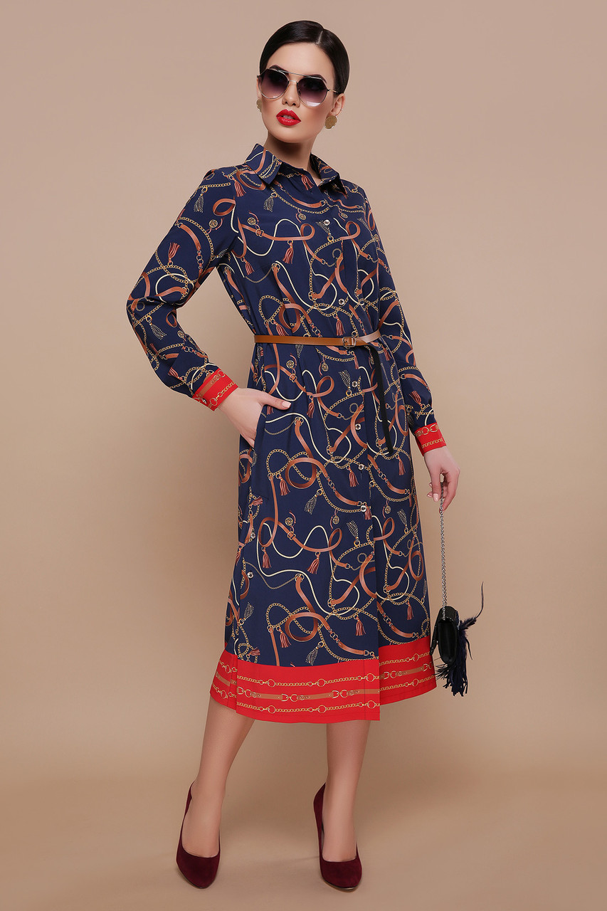 e10511aec13 Ремешки-цепи Платье-рубашка Зарина Д р — в Категории