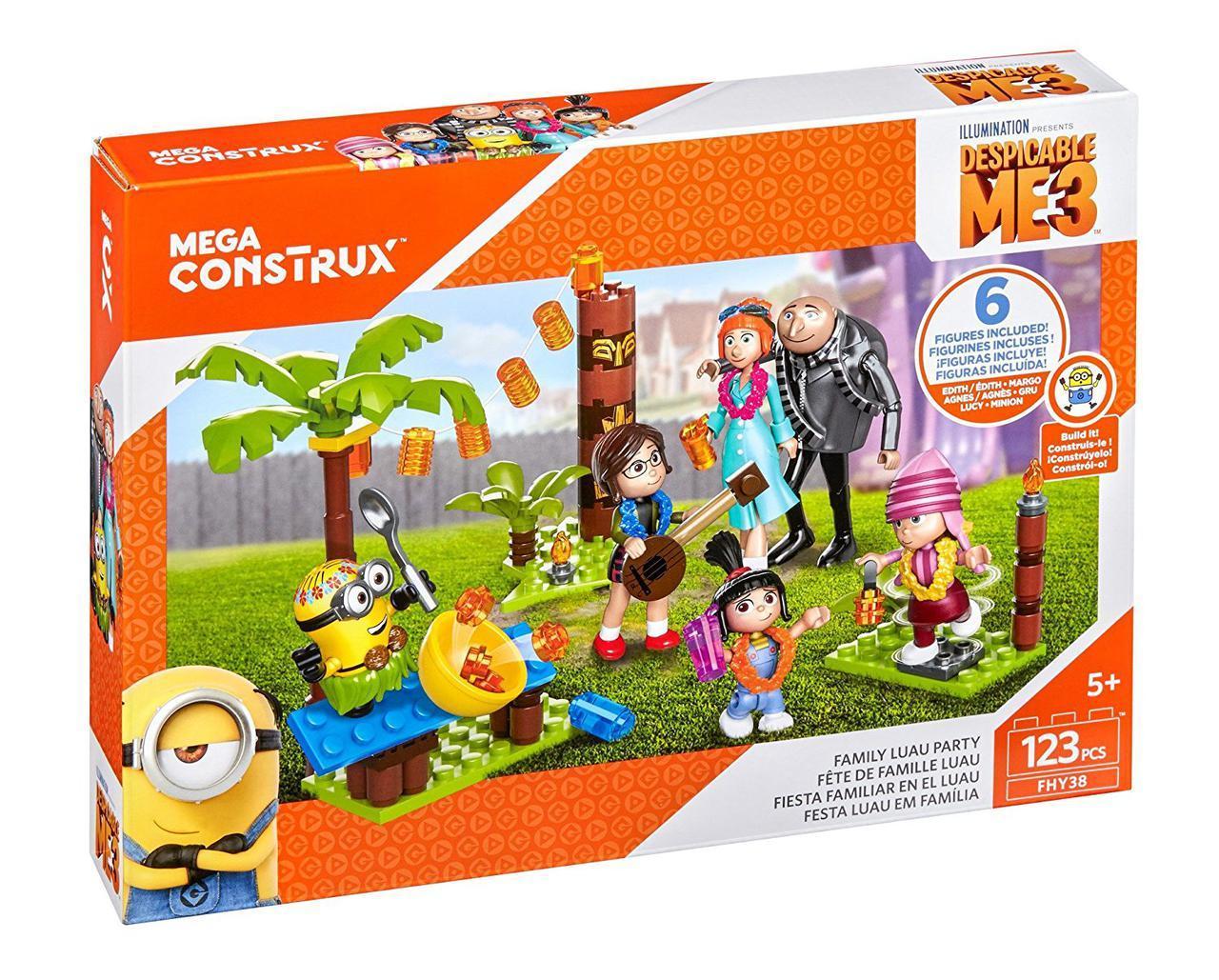 Мега Конструктор миньоны Семейный пикник Гру Mega Construx Despicable Me 3 Family Luau Party Building Set
