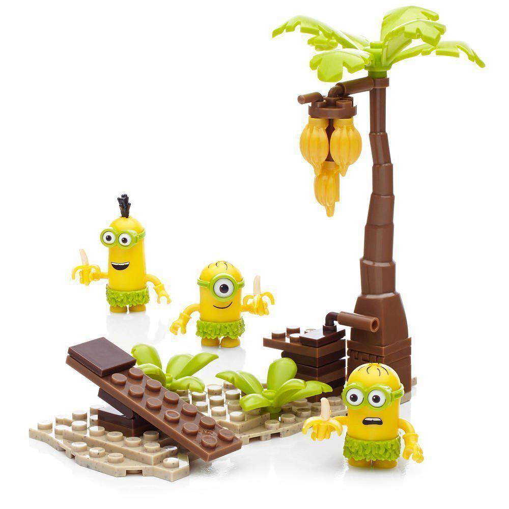 Мега Блокс Миньоны Банановый остров Mega Construx Minions Movie Banana Island Building Set