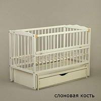 Кроватка Twins Радуга шарнир/ящик подшипник откидной бортик, фото 1