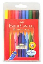 Фломастеры 10 цветов трехгранные, Faber Cаstell Германия