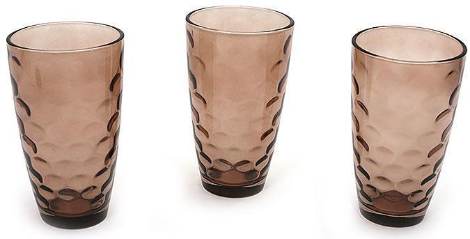 Набор стаканов 425мл (3шт) коричневый