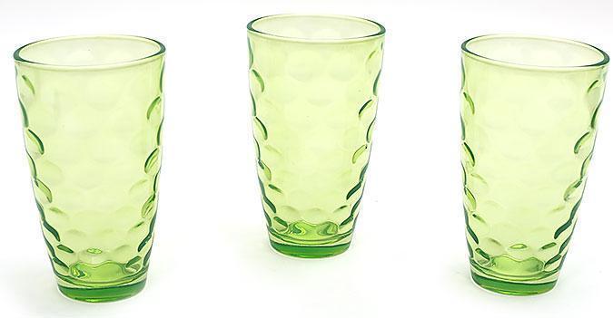 Набор стаканов 425мл (3шт) зеленый