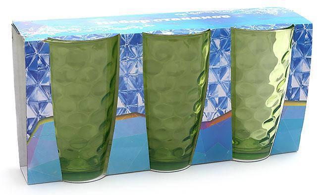Набор стаканов 425мл (3шт) зеленый, фото 2