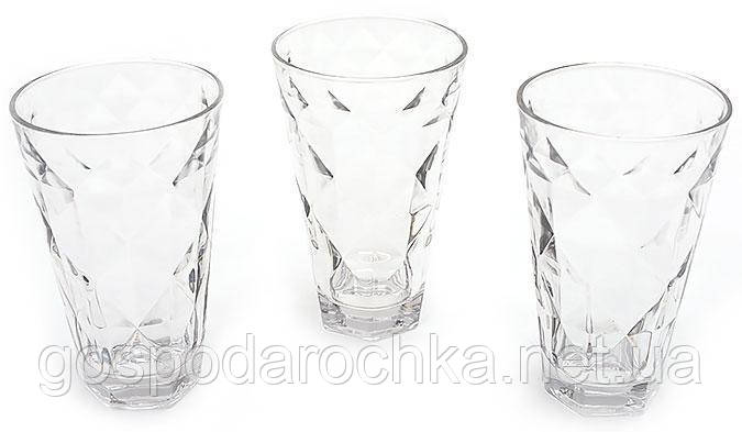 Набор стаканов 375мл (3шт) прозрачный