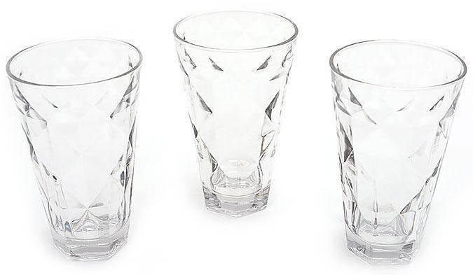 Набор стаканов 375мл (3шт) прозрачный, фото 2