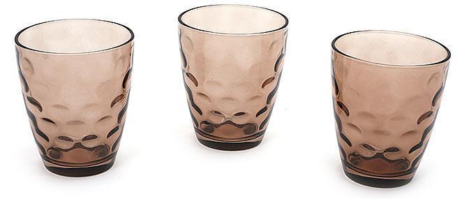 Набор стаканов 350мл (3шт) коричневый
