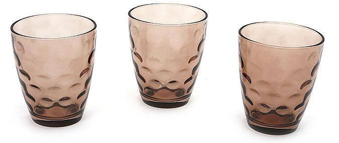 Набор стаканов 350мл (3шт) коричневый, фото 2