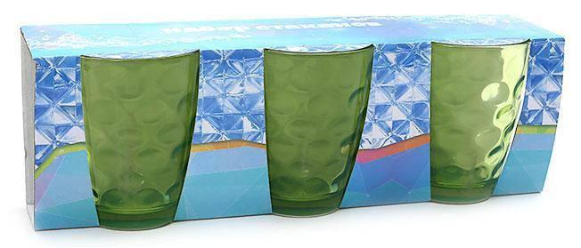 Набор стаканов 350мл (3шт) зеленый, фото 2