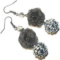 """Сережки-кульчики """"Троянда"""", фото 1"""