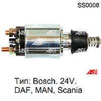 Втягивающее реле стартера на Scania. Тип Bosch SS0008 (AS-PL)