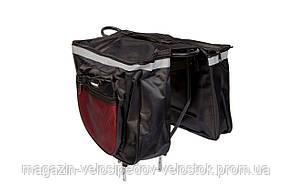 Велосумка штаны, на багажник QIJian QJ-048 (черный)