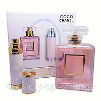 Уценка Подарочный набор Chanel Coco Mademoiselle (парфюм 100 ml и атомайзер 7,5 ml) -дефект упаковки