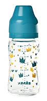 Бутылочка стеклянная с широким горлышком Beaba -240 мл - голубой , арт. 911655, фото 1