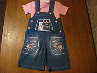 Детский джинсовый комплект с шортами для девочки 1 год . Турция