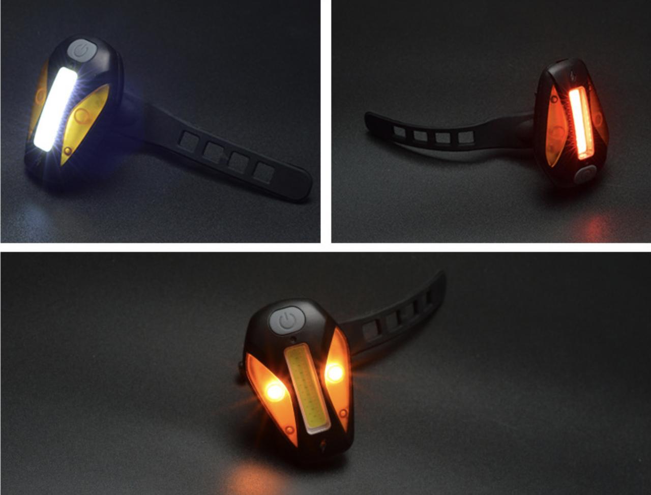 Фонарь габаритный BC-TL5444 белый+красный+желтый свет 20 светодиодов, USB Pl (черный корпус)