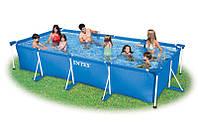 Прямоугольный каркасный бассейн Rectangular Frame Pool Intex 28273 (450x220x84 см )