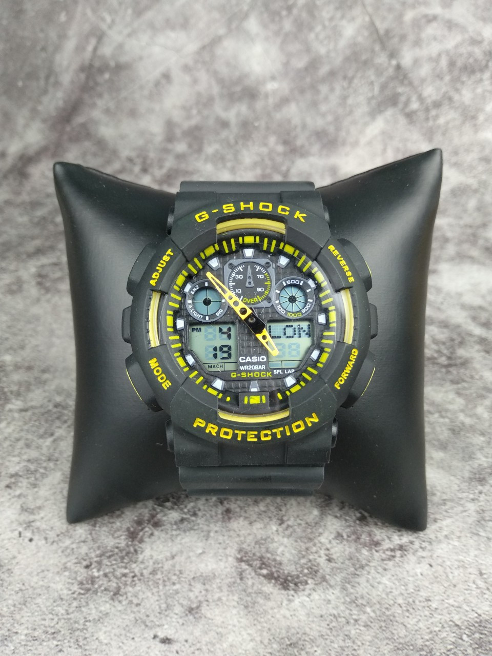 Часы Casio G-Shock реплика black-yellow