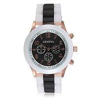 Женские часы Geneva Luxury белые с черным, фото 1