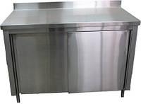 Стол производственный тумба с дверями купе СПТ1ПК (1200x600 см)