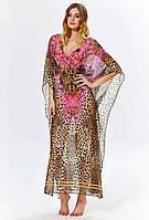 Женское пляжное платье накидка Argento 2083-1253 One Size Бежевый Argento 2083-1253