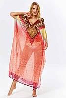 Женское пляжное платье длинное в пол Argento 2083-1244 One Size Красный