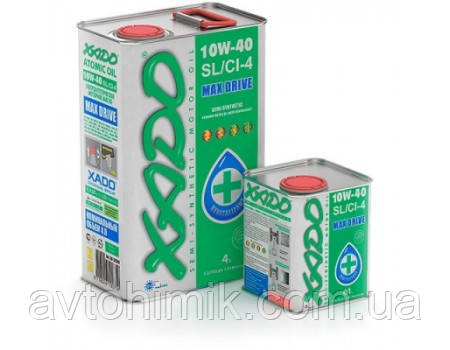 XADO Atomic Oil 10W-40 SL/CI-4, 1л