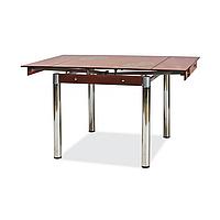 Стол раскладной стеклянный GD-082 коричневый