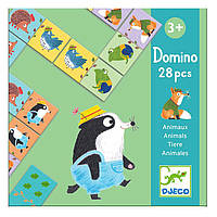 Игра Djeco Домино детское Веселые животные DJ08115