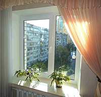 Окно REHAU 60 с монтажом 1,2 х 1,4м