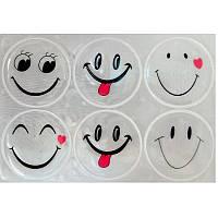 Світловідбиваючі наліпки Longus Smile комплект 6шт білий