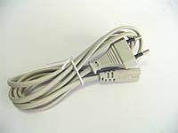 Шнур сетевой для бытовой техники 2x0,75мм, 1,8метра, серый