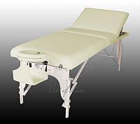 Складной массажный стол BEL ЛЮКС деревянный трехсекционный, Стол массажный BEL